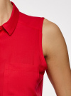 Топ вискозный с рубашечным воротником oodji #SECTION_NAME# (красный), 14911009B/26346/4500N - вид 5