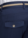 Брюки хлопковые с декоративной отделкой на поясе oodji #SECTION_NAME# (синий), 2L200155M/23421N/7900N - вид 4