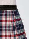 Юбка короткая в складку oodji для женщины (разноцветный), 11606034-4/45879/4575C