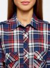 Рубашка хлопковая с нагрудными карманами oodji #SECTION_NAME# (синий), 11411052-1B/42850/7945C - вид 4