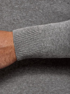 Свитер базовый из хлопка oodji для мужчины (серый), 4B312003M-1/34390N/2301M - вид 5