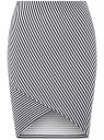 Юбка трикотажная с асимметричным низом oodji для женщины (белый), 14101081B/45500/1079S