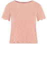 Топ укороченный из кружева oodji для женщины (розовый), 15F01004-1/49972/4B00L