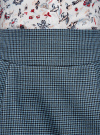 Юбка короткая с карманами oodji #SECTION_NAME# (синий), 11605056-2/22124/7029C