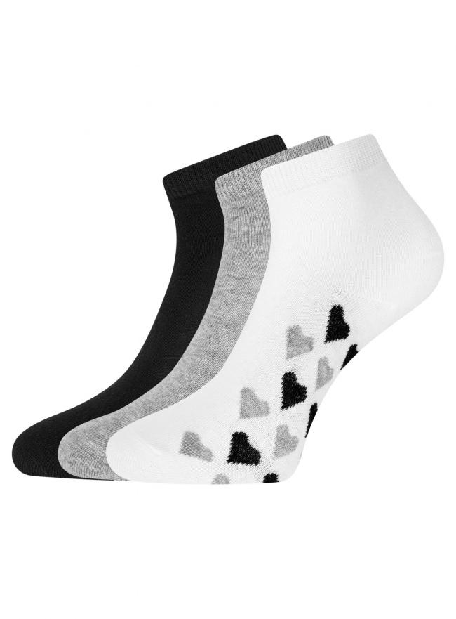 Комплект из трех пар укороченных носков oodji для женщины (разноцветный), 57102418T3/47469/43