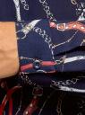 Блузка базовая из струящейся ткани oodji для женщины (синий), 11400368-9B/36215/794BO
