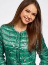 Куртка стеганая с круглым вырезом oodji #SECTION_NAME# (зеленый), 10204040-1B/42257/6D41F - вид 4