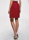Юбка A-образного силуэта на молнии oodji для женщины (красный), 11600446/31291/4900N