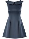 Платье приталенное с V-образным вырезом на спине oodji #SECTION_NAME# (синий), 12C02005/24393/7902N