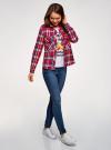 Рубашка с нагрудными карманами oodji #SECTION_NAME# (красный), 13L11006-1B/42850/4575C - вид 6