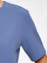 Платье из плотной ткани с молнией на спине oodji #SECTION_NAME# (синий), 21910002/42354/7500N - вид 5