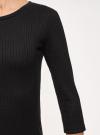 Платье в рубчик с рукавом 3/4 oodji #SECTION_NAME# (черный), 14001196/46412/2900N - вид 5