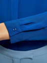 Блузка из струящейся ткани oodji #SECTION_NAME# (синий), 11400368-3/32823/7500N - вид 5