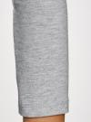Платье облегающее с вырезом-лодочкой oodji для женщины (серый), 14017001-6B/47420/2000M - вид 5
