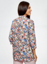 Жакет без застежки с накладными карманами oodji #SECTION_NAME# (разноцветный), 21204047/42526/1270F - вид 3