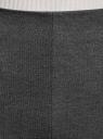 Юбка-карандаш с разрезом oodji для женщины (серый), 14101095/43060/2501M