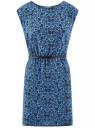 Платье принтованное из вискозы oodji #SECTION_NAME# (синий), 11910073-2/45470/7529F