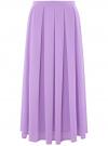 Юбка в складку из струящейся ткани oodji #SECTION_NAME# (фиолетовый), 23G00009-2B/45193/8001N