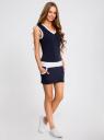 Платье с капюшоном oodji для женщины (синий), 14005054-2/45613/7910N