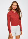 Рубашка базовая с нагрудными карманами oodji #SECTION_NAME# (красный), 11403222B/42468/4512D - вид 2