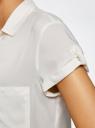 Блузка из вискозы с нагрудными карманами oodji #SECTION_NAME# (слоновая кость), 11400391-3B/24681/1200N - вид 5