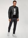Куртка стеганая из искусственной кожи oodji #SECTION_NAME# (черный), 1L511053M-1/47397N/2900N - вид 6