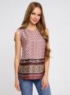 Топ принтованный из струящейся ткани oodji для женщины (разноцветный), 21400351M/35542/1231E - вид 2