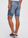 Шорты джинсовые с потертостями oodji #SECTION_NAME# (синий), 6B220013M/35771/7401W - вид 3