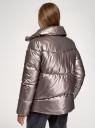 Куртка стеганая с воротником-стойкой oodji для женщины (серый), 10203098/50562/2500N