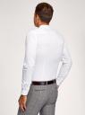 Рубашка приталенная с воротником-стойкой oodji #SECTION_NAME# (белый), 3B140004M/34146N/1000N - вид 3