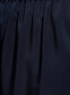 Платье вискозное с рукавом 3/4 oodji #SECTION_NAME# (синий), 11901153-1B/42540/7900N - вид 5