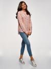 Блузка вискозная А-образного силуэта oodji #SECTION_NAME# (розовый), 21411113-1B/48458/5429O - вид 6