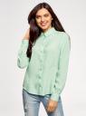 Блузка базовая из вискозы oodji для женщины (зеленый), 11411136B/26346/6501N