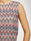 Топ из фактурной ткани с этническим узором oodji #SECTION_NAME# (розовый), 15F05004/45509/6555E - вид 5