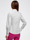 Рубашка принтованная приталенного силуэта oodji #SECTION_NAME# (слоновая кость), 21402213/35336/3029D - вид 3