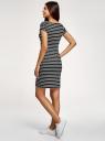 Платье трикотажное принтованное oodji для женщины (черный), 14001117-24B/37809/2901S