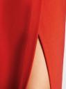 Платье-миди трикотажное с запахом на юбке oodji для женщины (красный), 24000305/45394/4500N