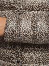 Куртка стеганая с круглым вырезом oodji для женщины (бежевый), 10204040-1B/42257/3329A - вид 5