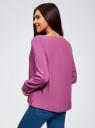 Блузка вискозная базовая oodji #SECTION_NAME# (фиолетовый), 11411135-3B/26346/4C00N - вид 3