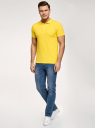 Поло из ткани пике oodji для мужчины (желтый), 5B422001M/44032N/5202N
