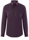 Рубашка базовая приталенная oodji для мужчины (фиолетовый), 3B140000M/34146N/8800N