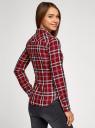 Рубашка принтованная хлопковая oodji #SECTION_NAME# (красный), 11406019/43593/4529C - вид 3