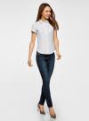 Рубашка базовая с коротким рукавом oodji #SECTION_NAME# (белый), 11401238-1/45151/1000N - вид 5