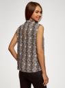 Топ базовый из струящейся ткани oodji для женщины (бежевый), 14911006B/43414/3339A