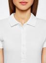 Поло базовое из ткани пике oodji для женщины (белый), 19301001-1B/46161/1000N