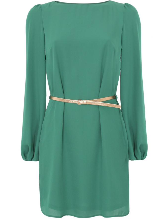 Платье oodji для женщины (зеленый), 11900150-4/32823/6E00N