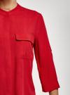 Блузка вискозная с регулировкой длины рукава oodji #SECTION_NAME# (красный), 11403225-9B/48458/4500N - вид 5