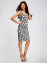 Платье-майка трикотажное oodji #SECTION_NAME# (белый), 14015007-3B/37809/1223E - вид 6