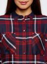 Рубашка удлиненная с разрезами oodji для женщины (красный), 11411180/47401/4579C