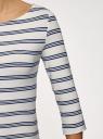 Платье трикотажное базовое oodji #SECTION_NAME# (белый), 14001071-2B/46148/1279S - вид 5